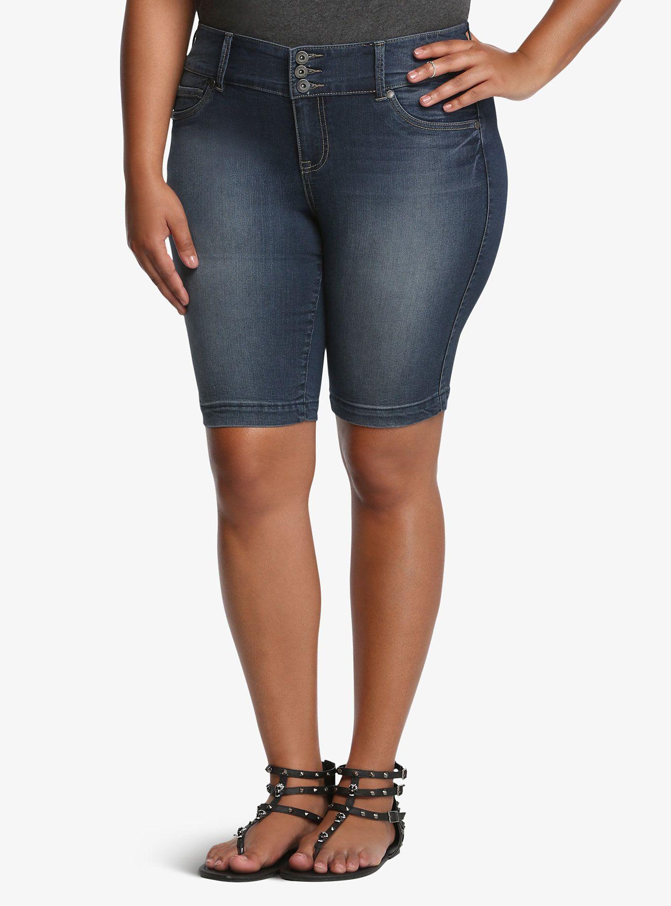 23c6badcf7 Jegging Bermuda Shorts - Medium Wash | Fashion I like | Bermuda ...