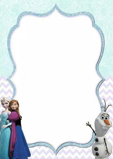 Frozen Tarjetas De Invitacion Frozen Invitaciones De