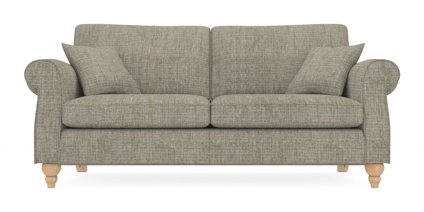 Buy Ashford Large Sofa Seats Textured Weave Mid French Grey - Ashford sofa