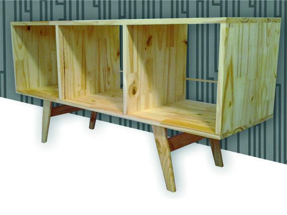 meuble tv/hifi enfilade scandinve design vintage rangement vinyl ... - Meuble Enfilade Design