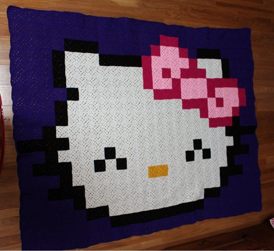 Hello Kitty pixel crochet blanket by InAnotherCastle on deviantART ...