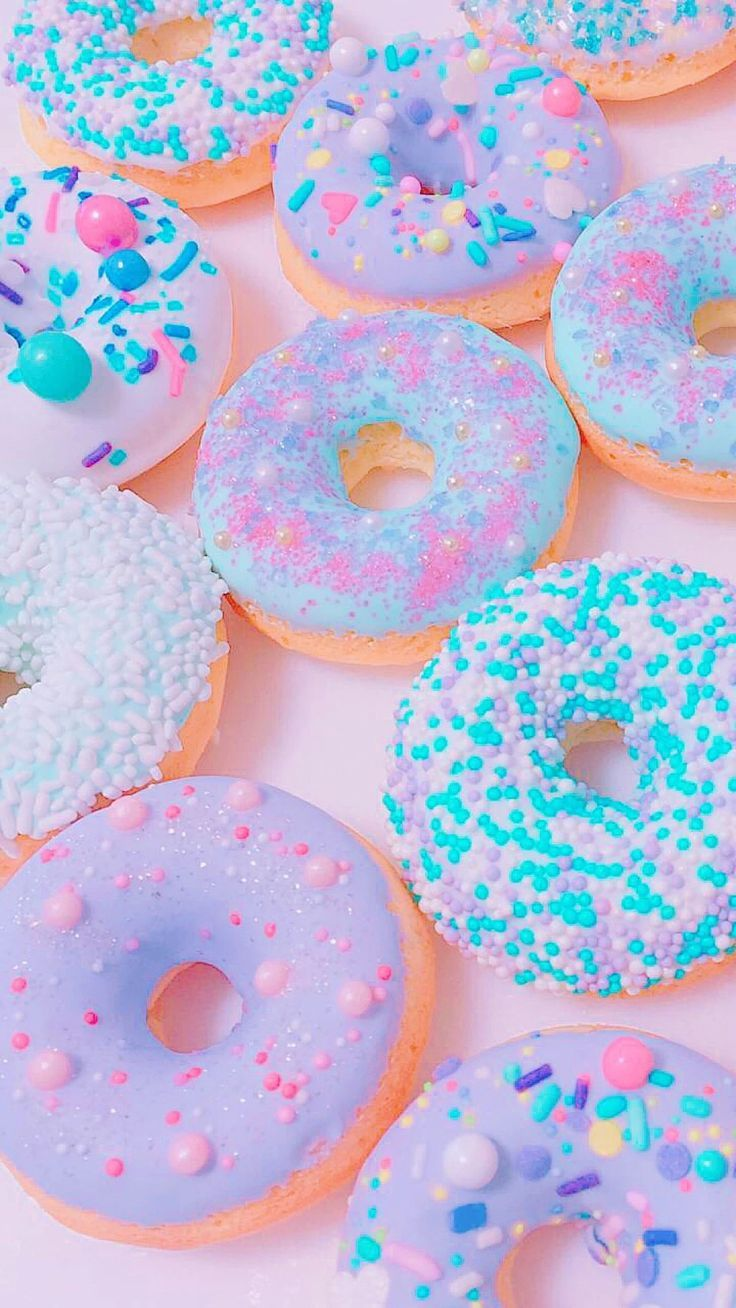Unicorn Donuts Food Food Food Iphone Wallpaper Wallpaper