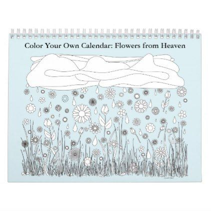Color Your Own Calendar - drawing sketch design graphic draw - how to create your own calendar