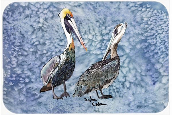 Double Trouble Pelicans Glass Cutting Board