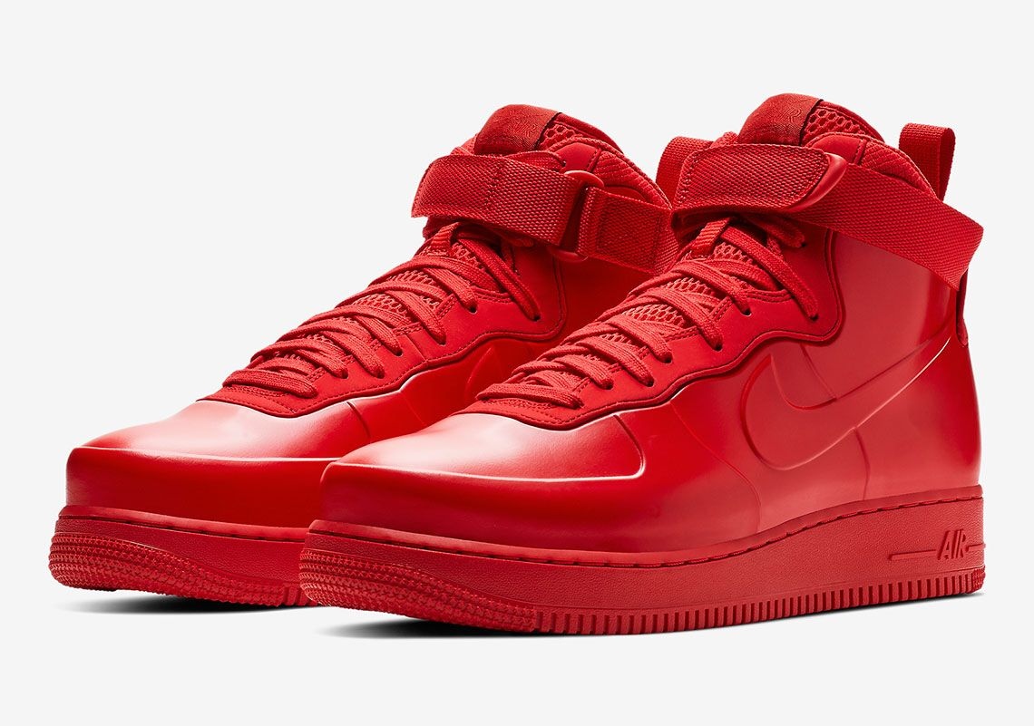 267339be Nike Air Force 1 Foamposite Full Red   sneakers in 2019