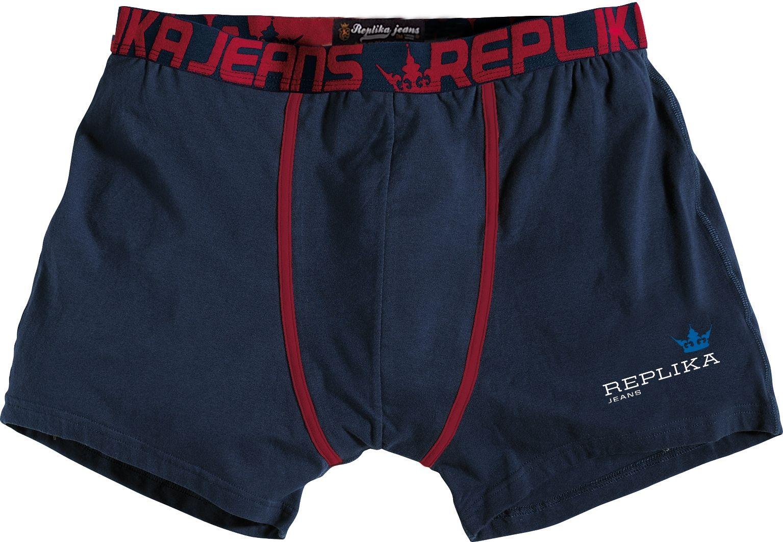 Boxer Marine allsize grande taille 100 % coton Devant du boxer fermé  Ceinture imprimé couleur rouge élastique assez large pour ne pas faire de  marques ... 215a082c205