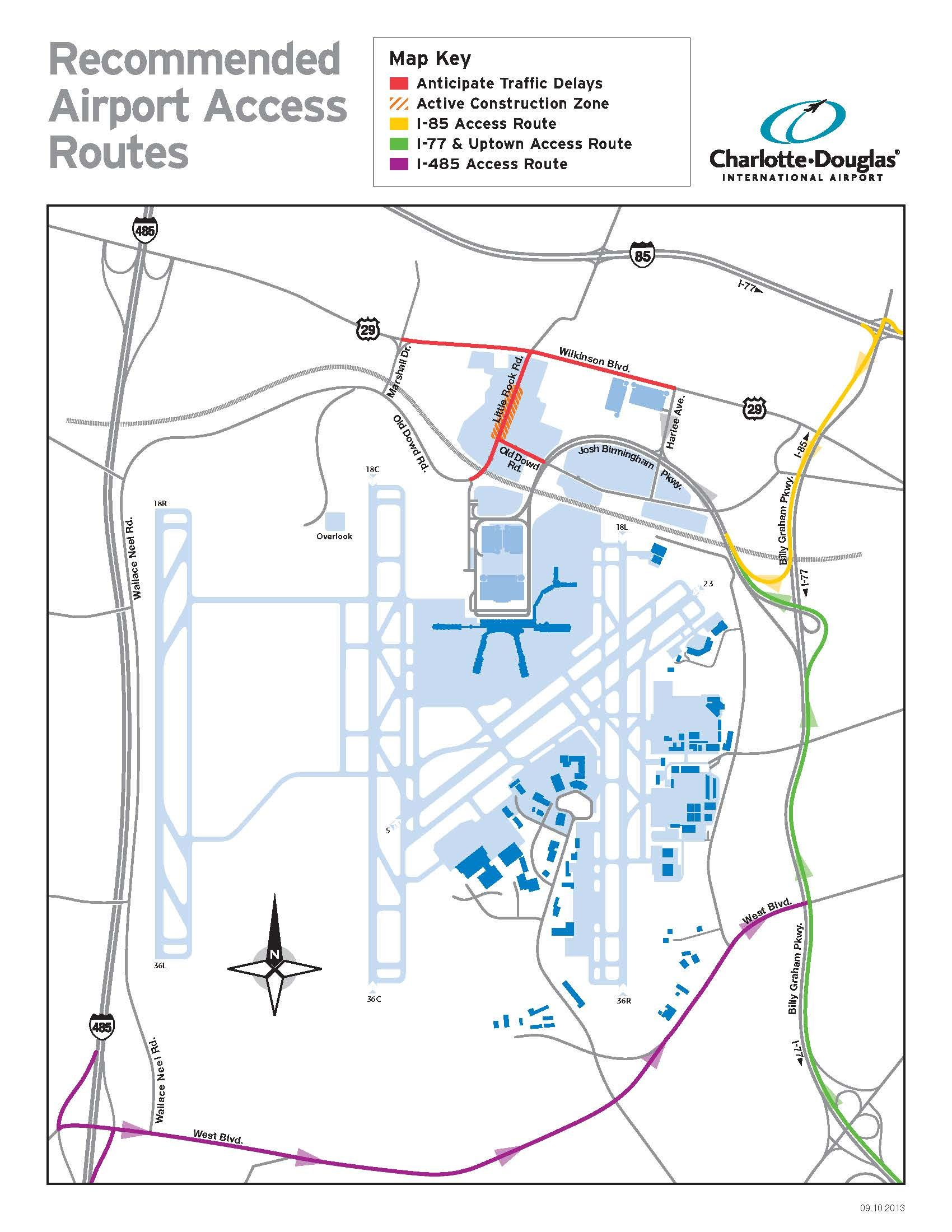 Clt Airport Map