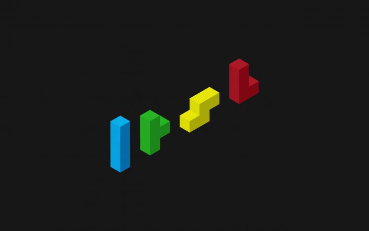 Minimalism Tetris Video Games Hd Wallpaper Desktop Background