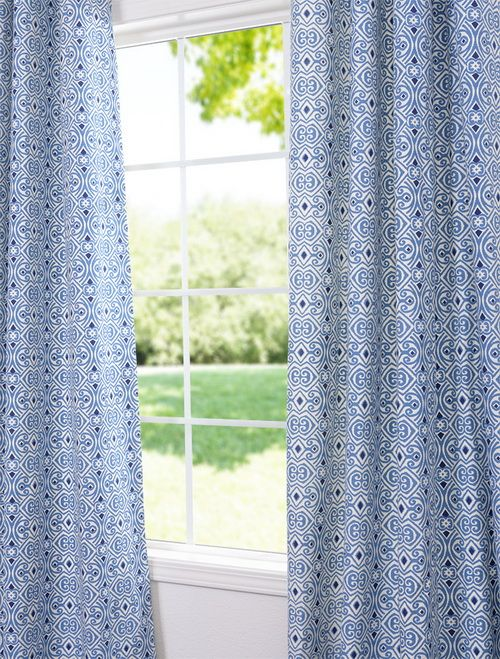 Calico Printed Cotton Curtains & Drapes