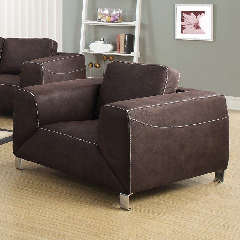 Monarch Specialties Paxton Club Chair Chocolate Brown - I 8511BR