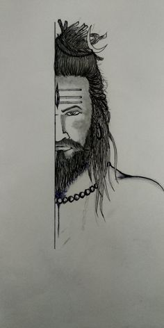 How to Lord Shiva tattoo pencil drawing | step by step in 2020