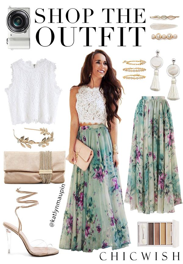Floral and Frill Maxi Skirt@katlynmaupin