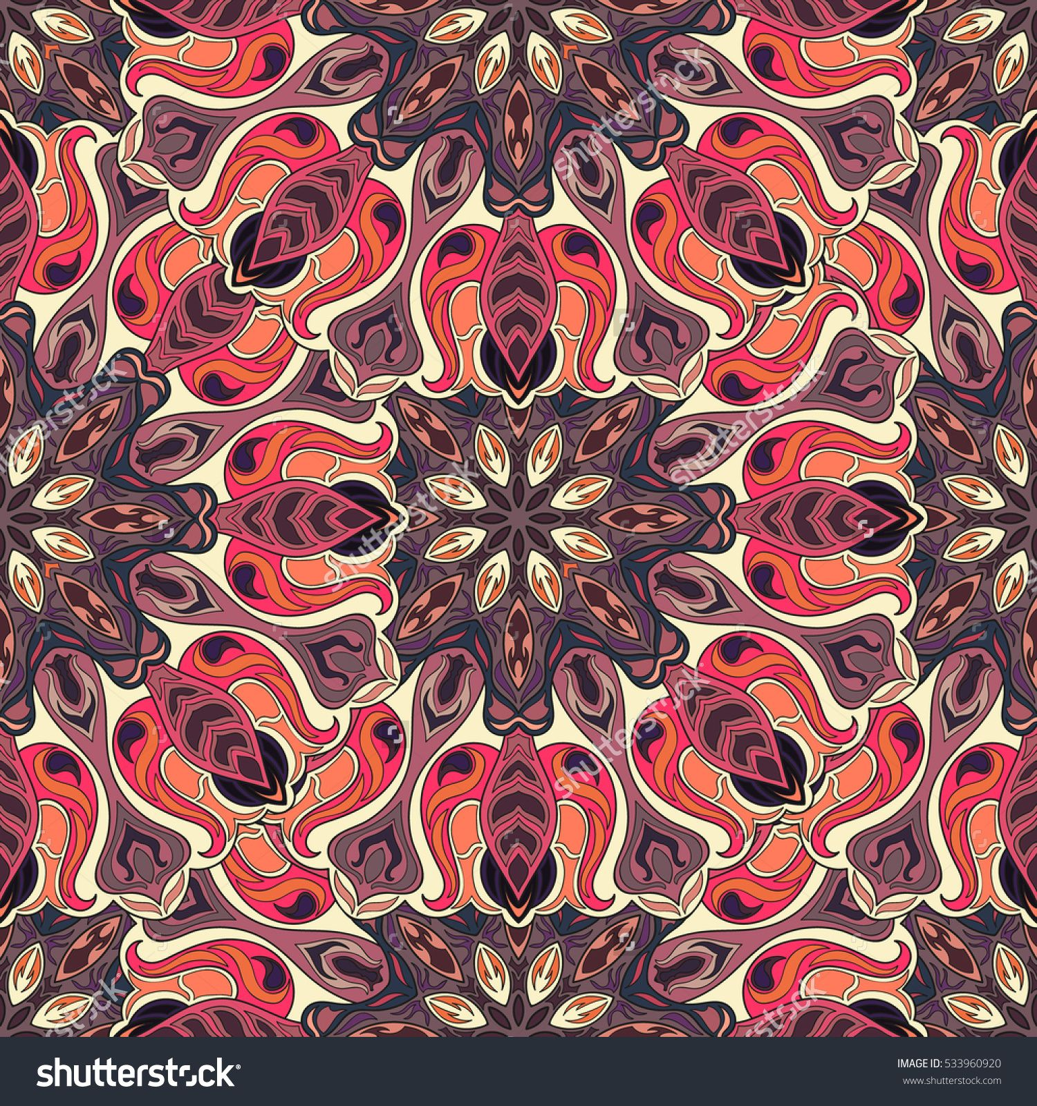 Wallpapers pattern fills web page backgrounds surface textures - Ornate Floral Seamless Texture Endless Pattern With Vintage Mandala Elements Can Be Used For Page Backgroundseamless