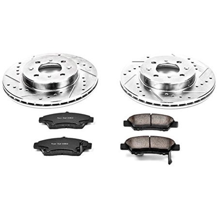 Power Stop Front Rear Brake Kit With Drilled Slotted Rotors And Ceramic Brake Pads K2277 Multicolor In 2020 Ceramic Brake Pads Ceramic Brakes Brake Pads