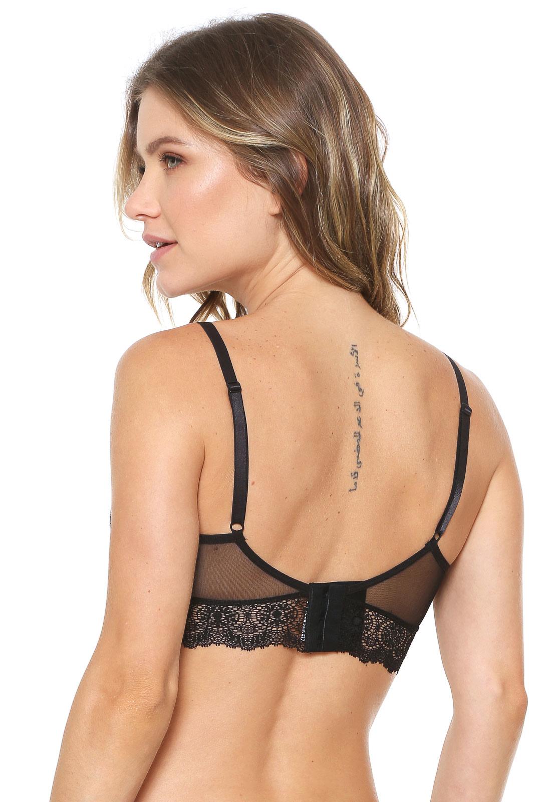913c1700e Sutiã Calvin Klein Underwear Triângulo Renda Preto em 2019 ...