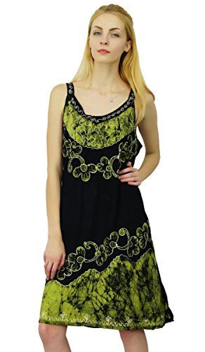 7a5d4014d0f8 Viscose Rayon Summer Batik Printed Dress Women Beach Top Casual Tunic  Sundress     Check out the image by visiting the link.