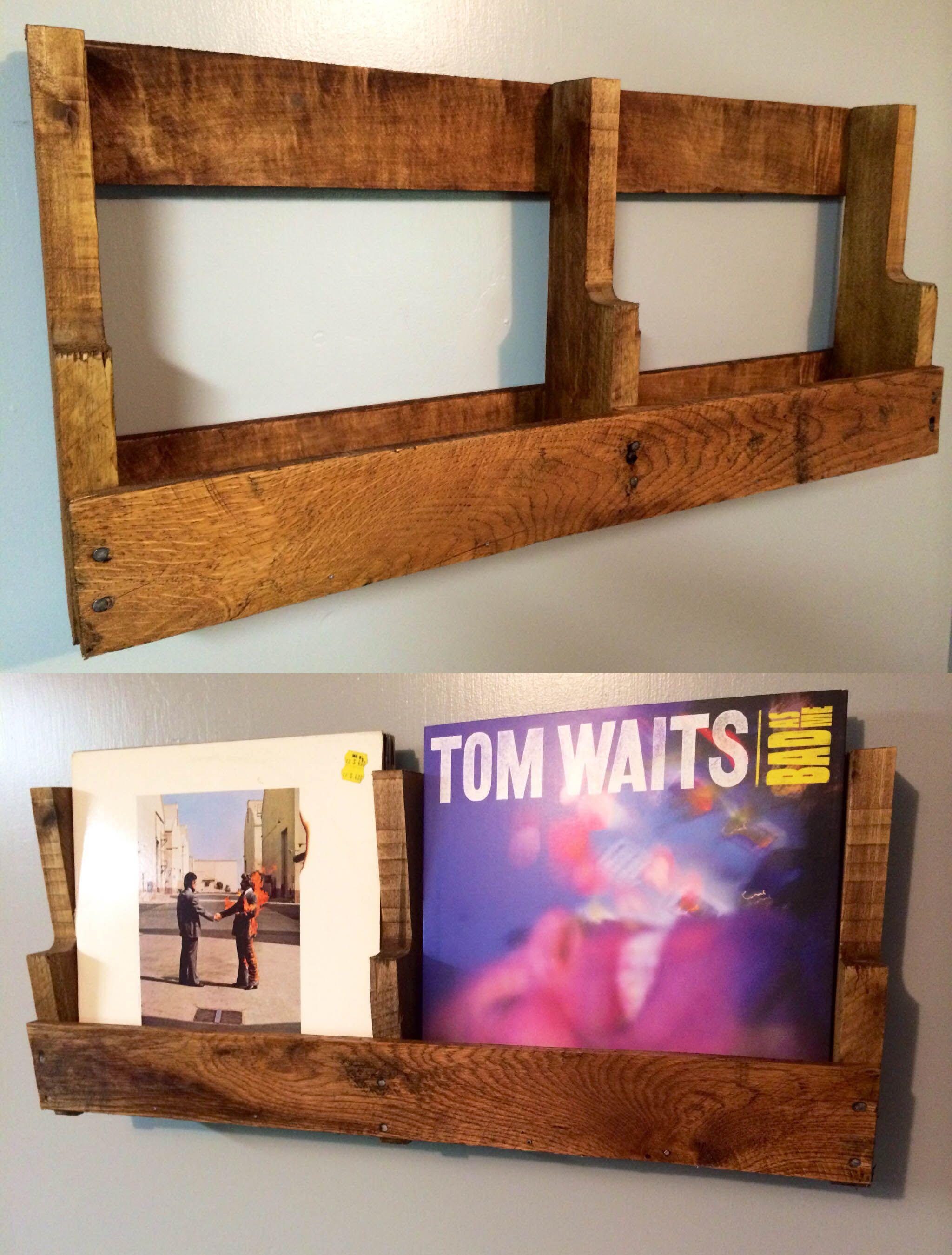 Pallet Storage Vinyl Record Diy Display