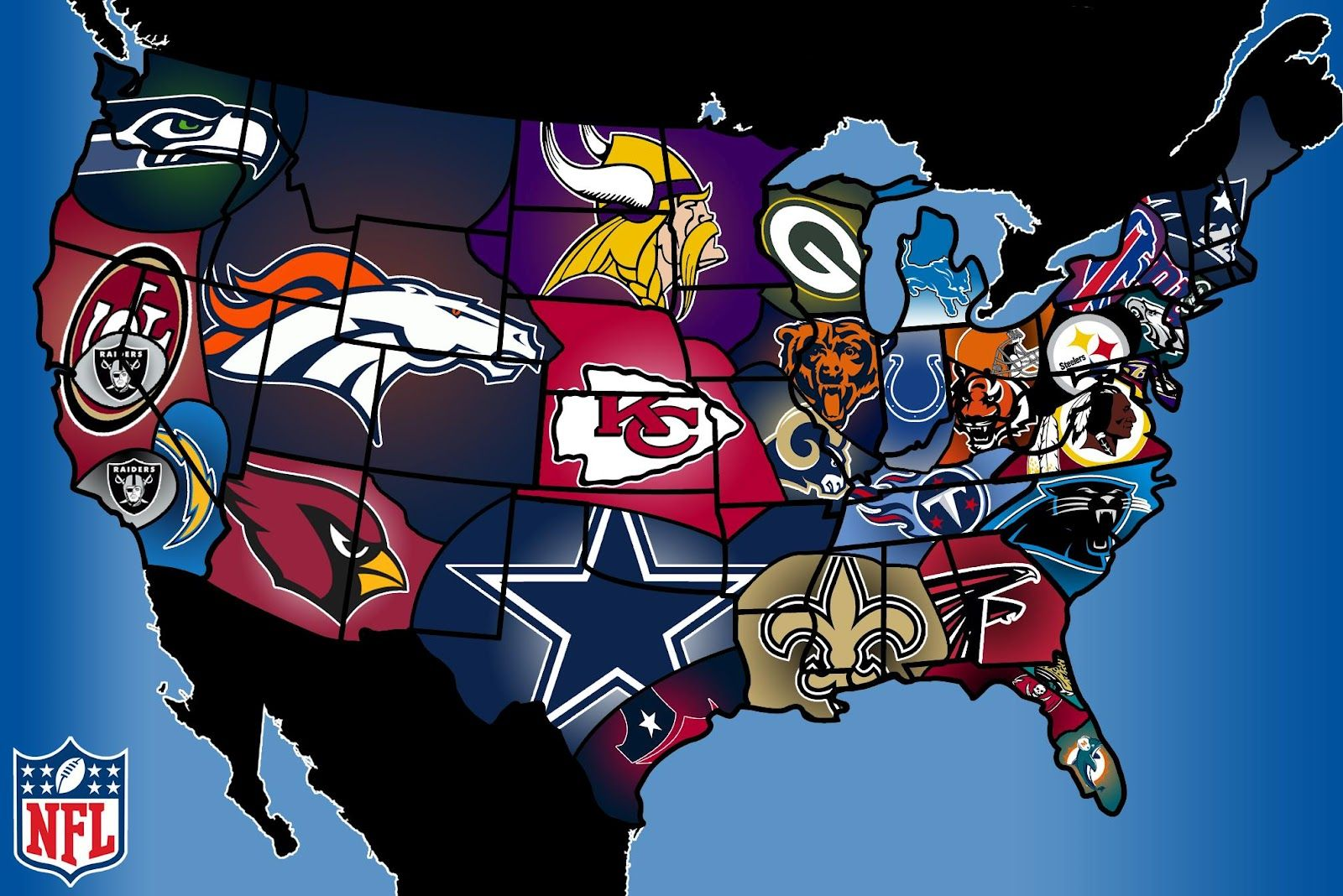 Google Image Result For Http 2 Bp Blogspot Com Vswwn5dccdw Ublf Lxfv7i Aaaaaaaajko U Wcow 7emm S1600 Nfl Fan Map Jpeg Nfl Season Nfl Fans Nfl Teams