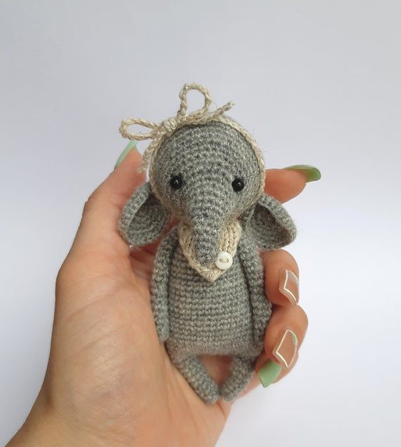 elephant amigurumi elephant knitted toy knitting needles Toy elephant Tilda Doll Handmade Animal Knitted kitty Knitted handmade nice #elephantitems