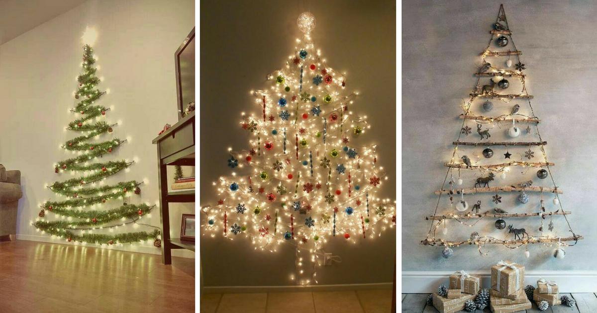 8 ideas de pinos navide os sobre tu pared decora sin - Casas de madera de pino ...