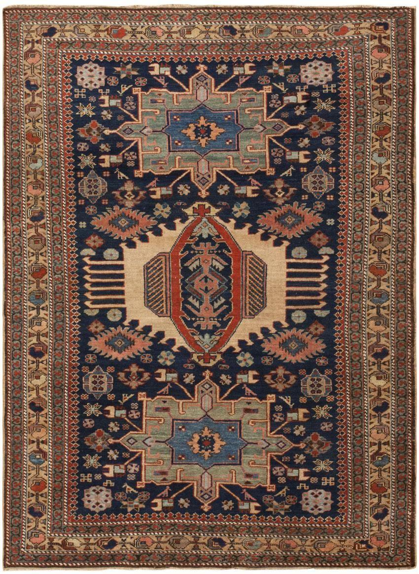 Good Antique Persian Heriz Rug 45893 Detail/Large View   By Nazmiyal