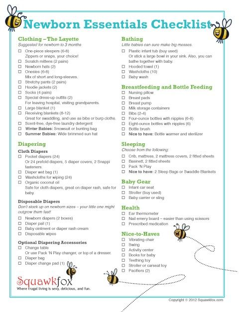 Free Printable Baby Shower Checklist Baby Needs Checklist Newborns