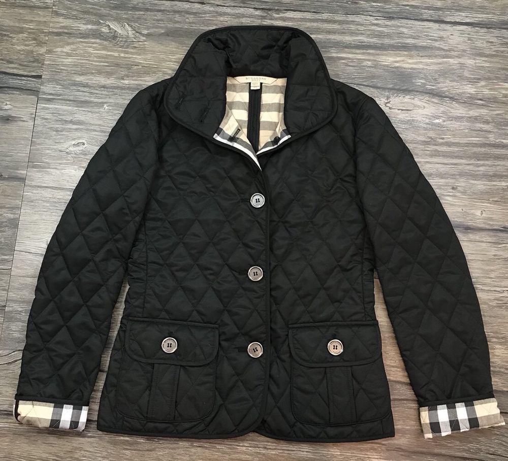 Burberry Brit Diamond Quilted Plaid Jacket Black Women S Sz Xs Ebay Plaid Jacket Jackets Burberry Brit