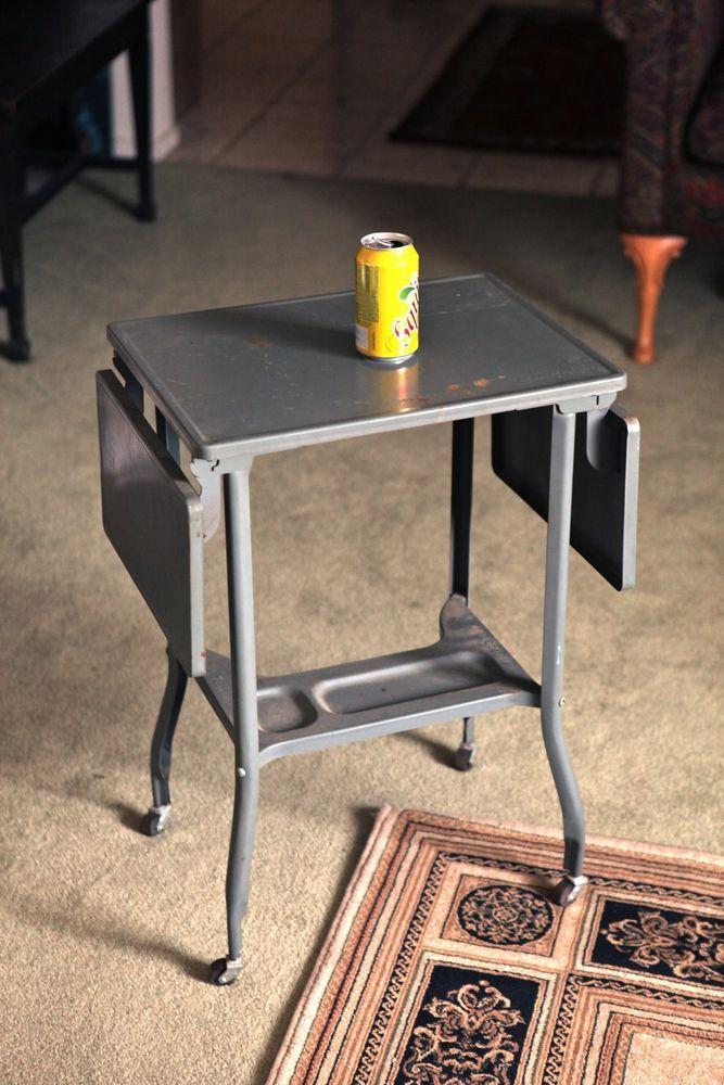 Vintage Toledo Guild Metal Rolling Typewriter Desk Stand