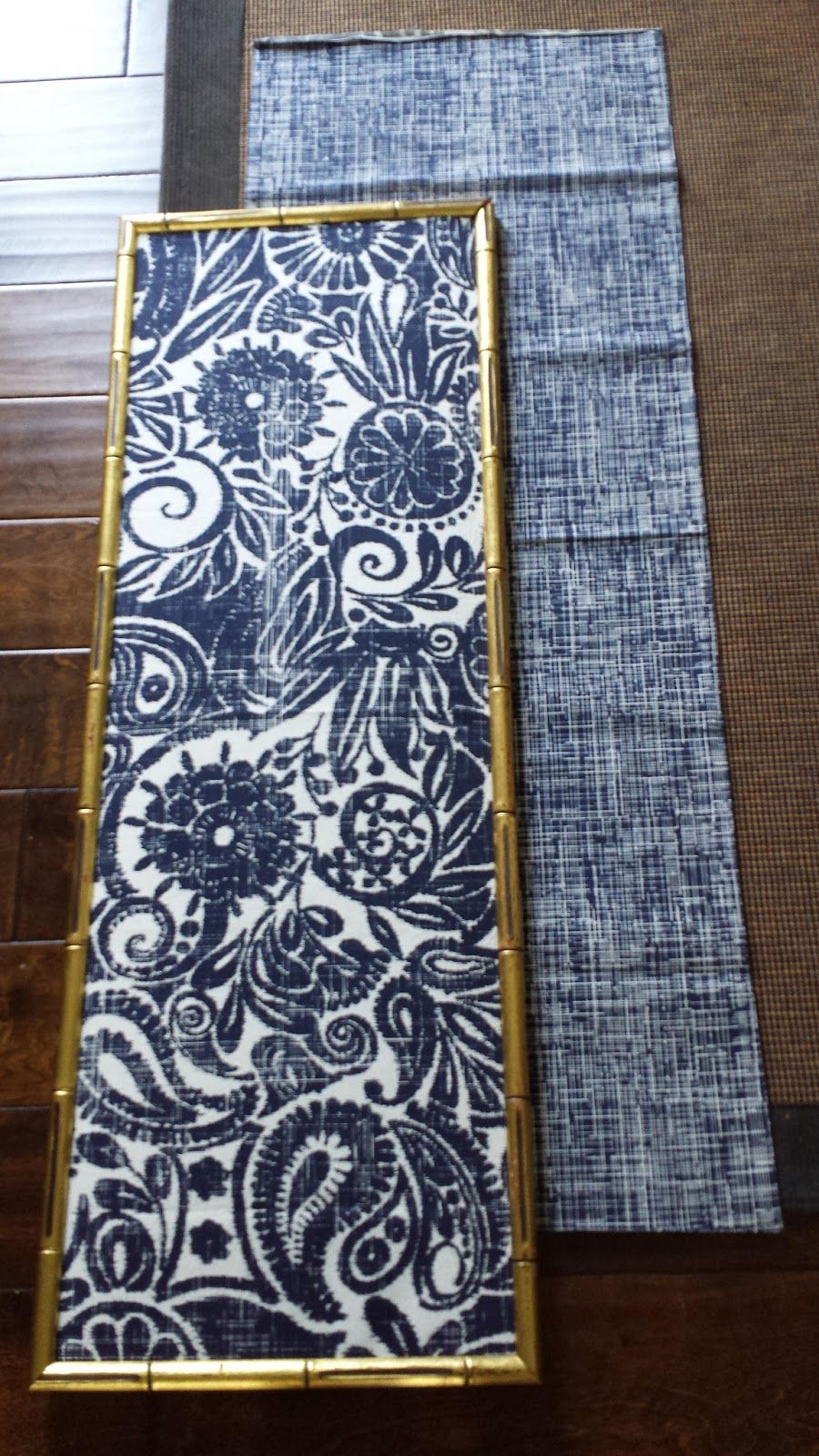 Diy indigo wall art with framed fabric fabric wall art