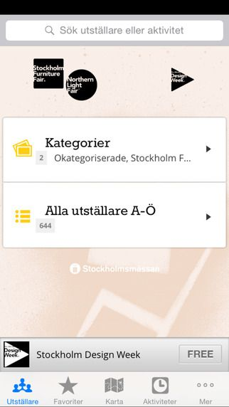 Karta Stockholmsmassan.Stockholm Furniture Light Fair By Stockholmsmassan Appool