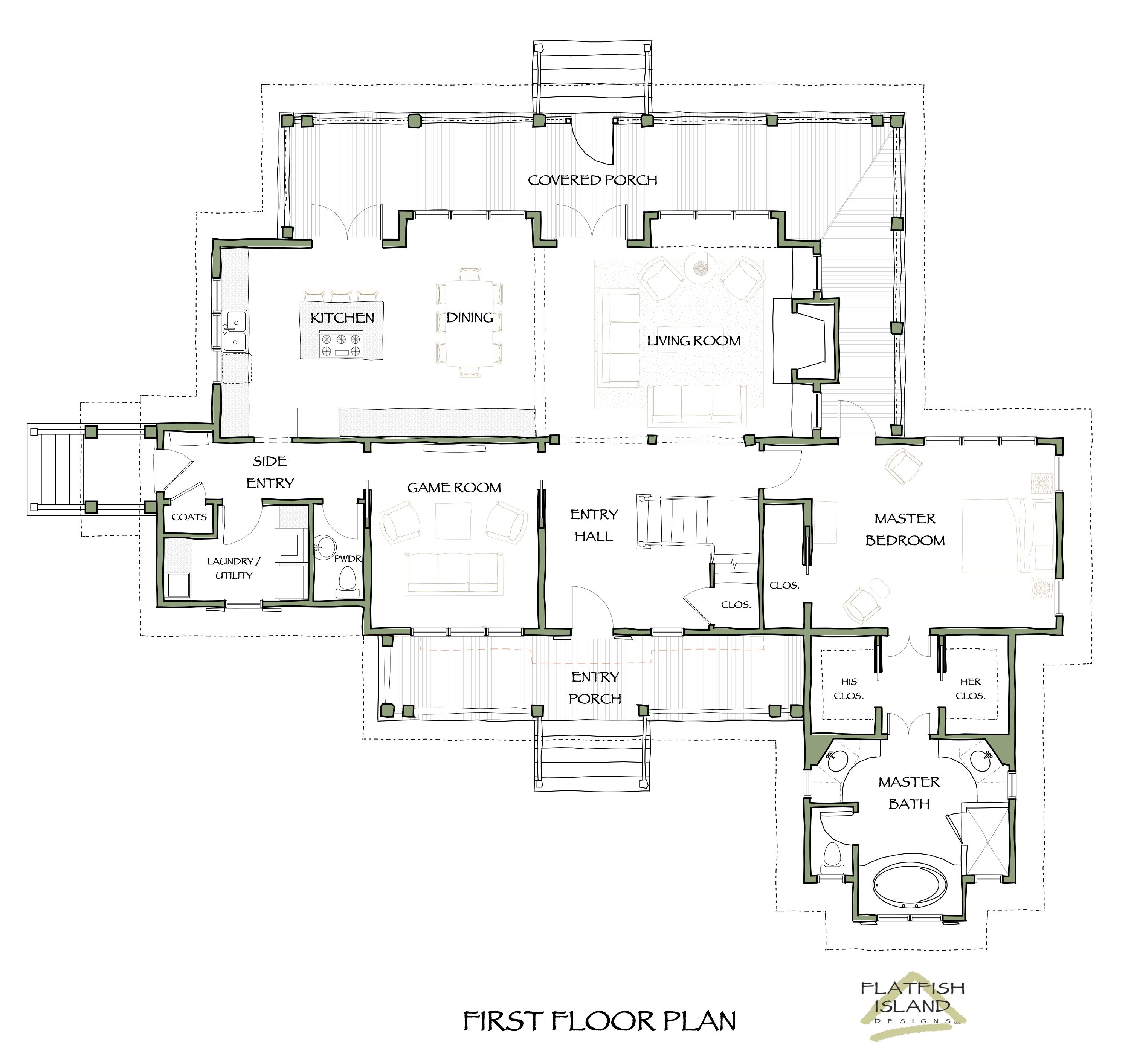 House plans with his and her master bathrooms google search