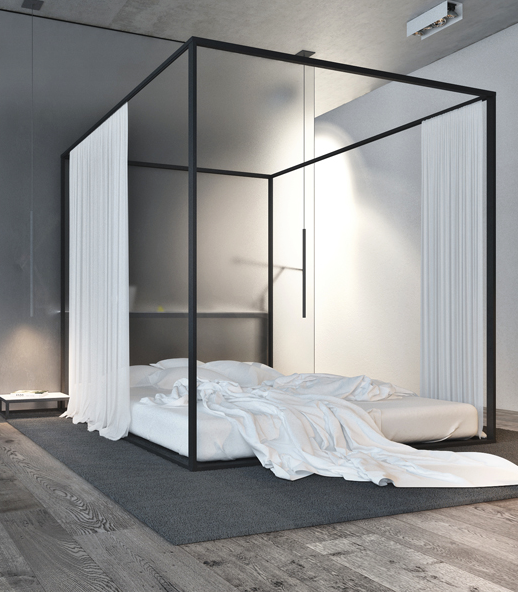 Can a Canopy Bed Ever Be Masculine? | house & home | Pinterest ...