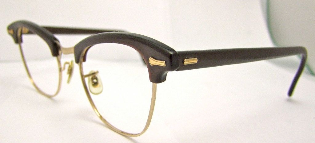 287a909c8a6 ON SALE Rare Goldfilled 1950s Men s EYEGLASSES Taupe Brown colored Shuron
