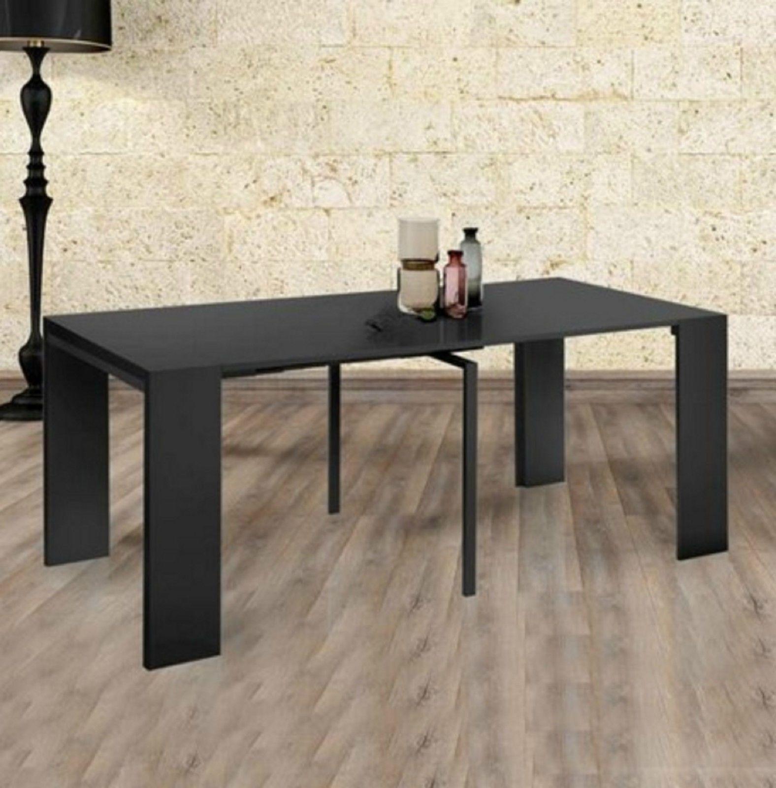 Tavolo consolle allungabile fino a 3mt nero lucido | Bricolage