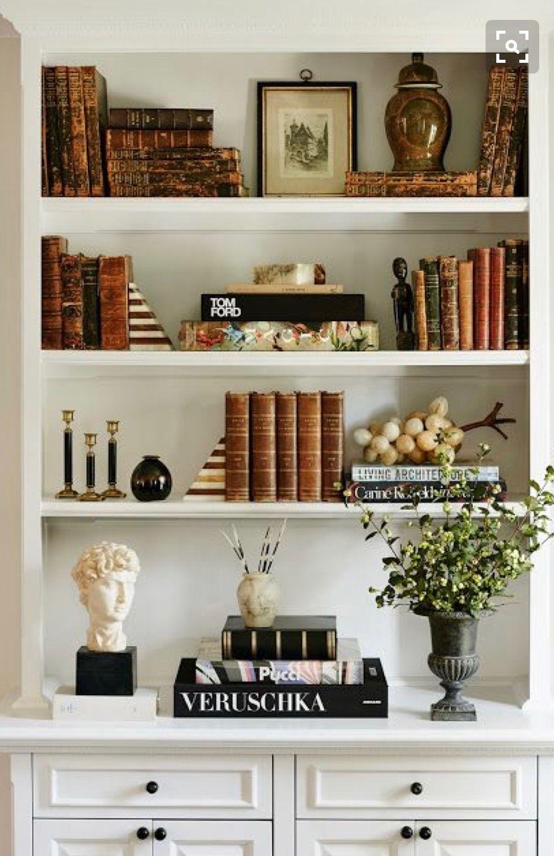 Brown Storage And Display Shelf Interior Design Bookcase Decor Retro Home Decor Decor