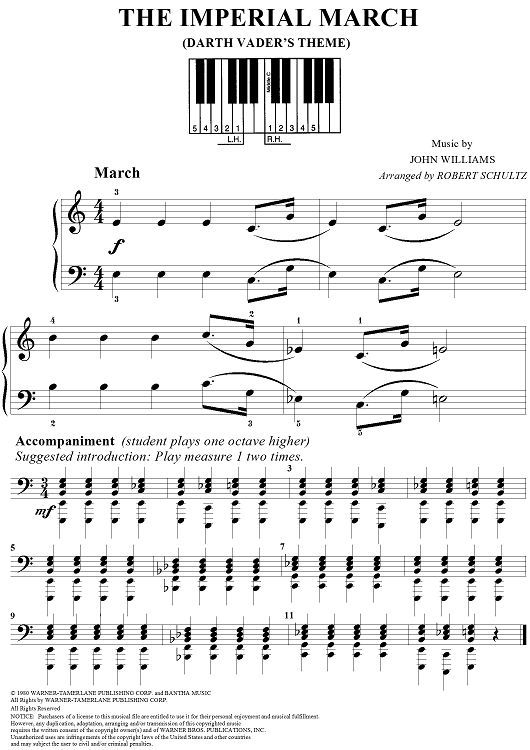 Image Result For Imperial March Easy Piano Pdf With Images The