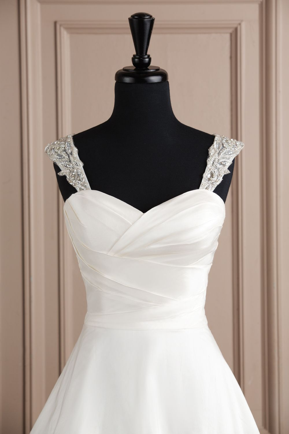 Justin Alexander accessories style A058 Tulle cap sleeves covered with beaded flowers and leaves. Very pretty.