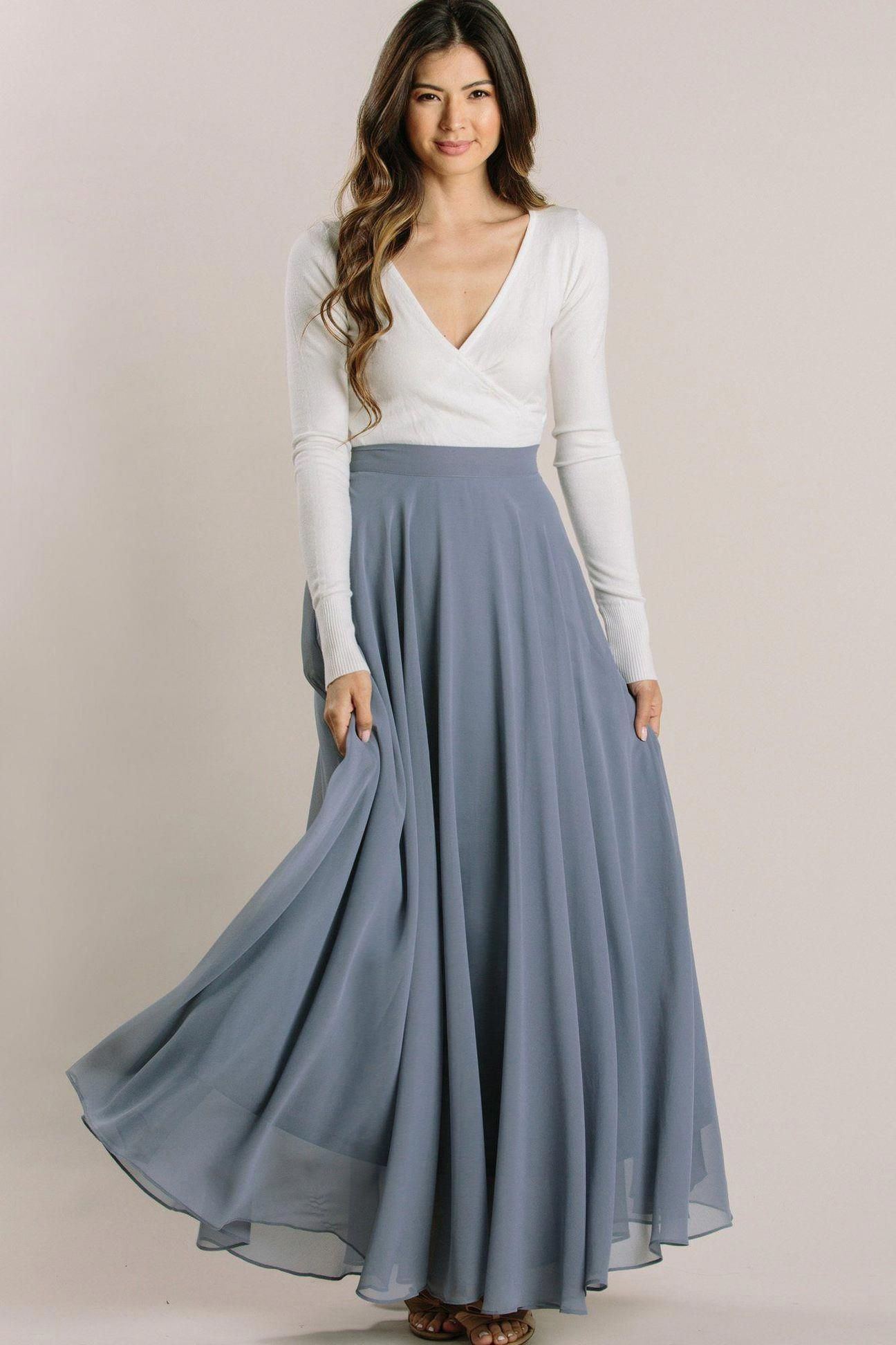 Which Is Certainly A Dress Attached In A Natural Method By Using A Calm Best Midiskirtoutfitcasual Full Maxi Skirt Blue Maxi Skirt Flowy Maxi Skirts