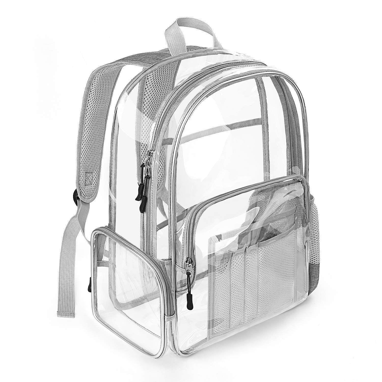 f11b2a41d842 Vemingo Heavy Duty Clear Backpack, Clear Transparent PVC School ...