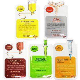 [Mediheal] Ampoule Mask Sheet Mask x 10 (5 types Platinum/Vita/Teatree/Collagen/Placenta)
