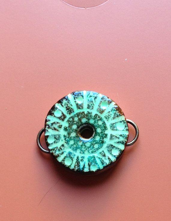 Year Wheel Polymer Clay Faux Ceramic by SkippingRockStudio1, $5.00