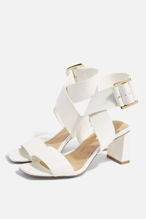 709928360586 Topshop NATALIA White Buckle Sandals in 2019