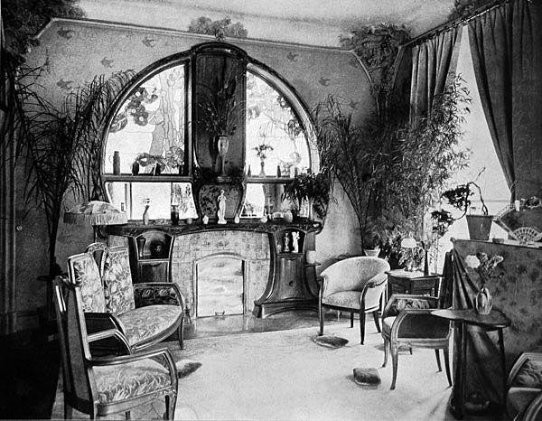 Ecole De Nancy Les Pieces De La Villa Majorelle Art Nouveau Interieur Art Nouveau Design Art Deco