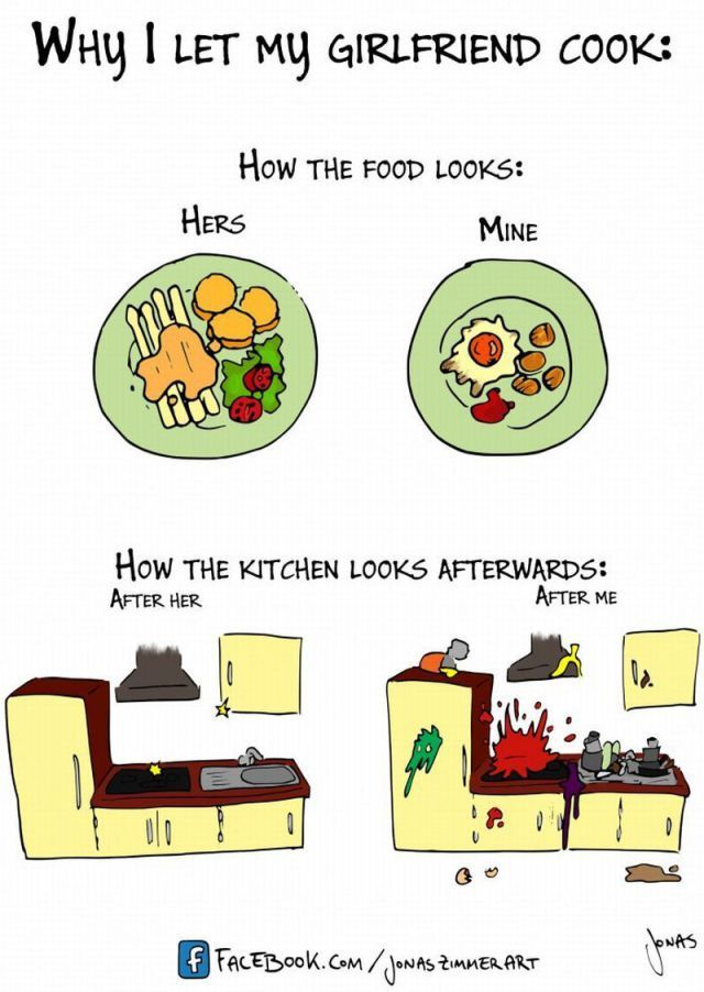 So true. I learned this while stuck in bed for two weeks and my husband did all the cooking.