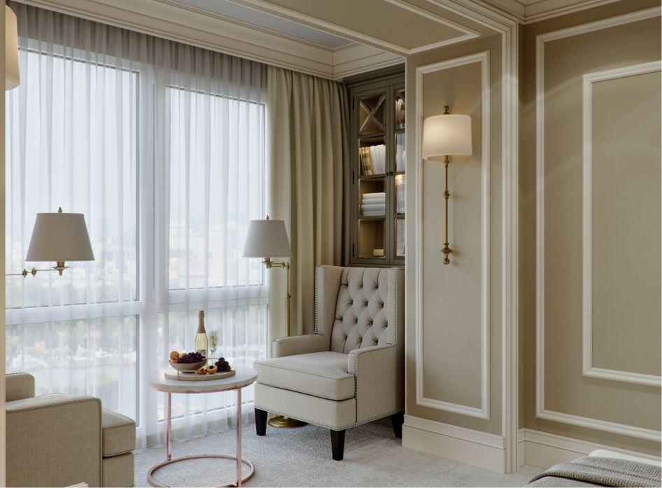 спальня классика галерея 3dddru материалы молдинги Bedroom