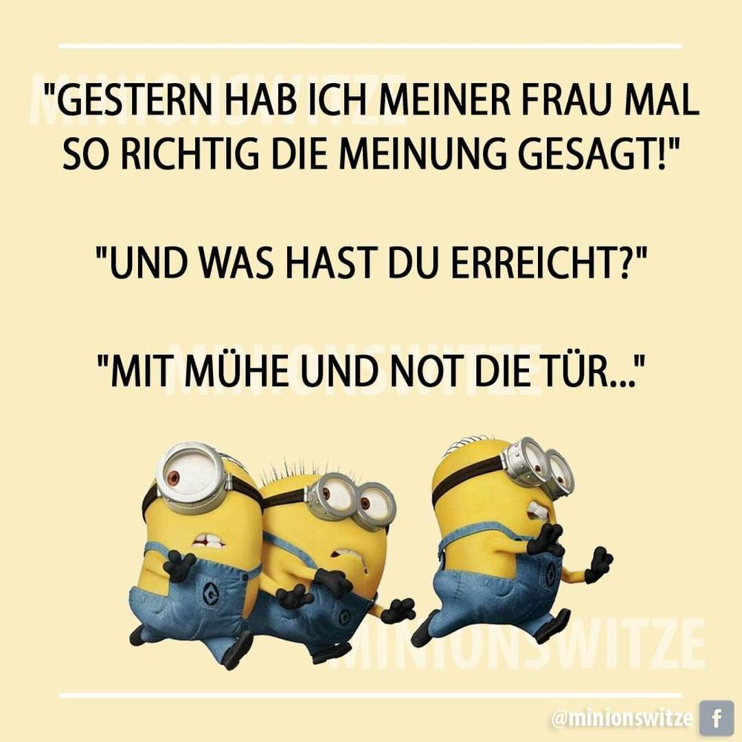Gefallt 52 Mal 2 Kommentare Minionswitze Und Spruche Minionswitze Auf Instagram Spruchbild Spruchdestag Minions Disney Characters Fun