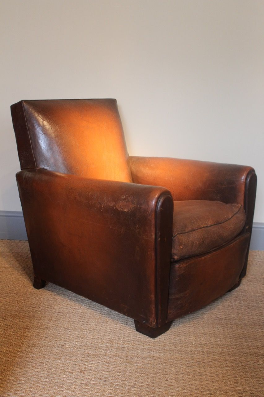 Astounding A Good Quality Early 20Th Century French Leather Club Chair Camellatalisay Diy Chair Ideas Camellatalisaycom