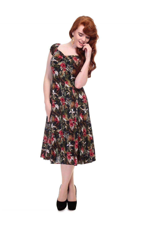 1b26c0303030 Collectif Mainline Dolores Lanai Hibiscus Doll Dress - Collectif Mainline  from Collectif UK