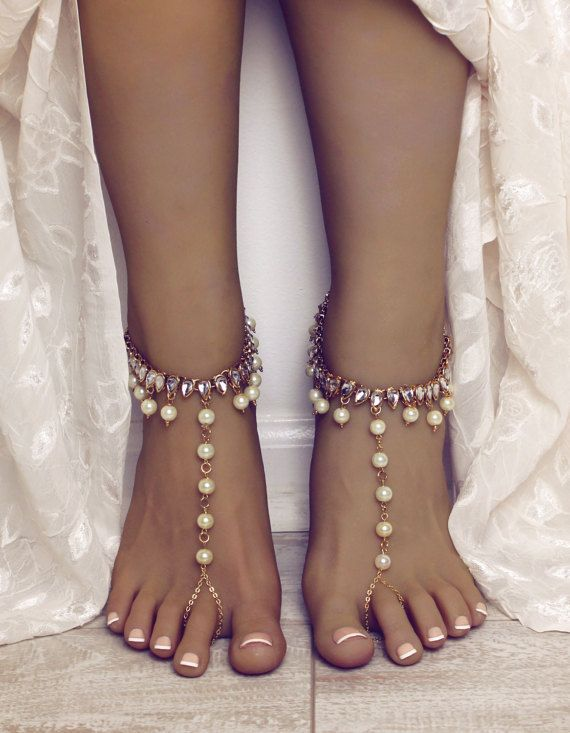 Cabo Barefoot Sandals Foot Jewelry For The Bride Beach Wedding