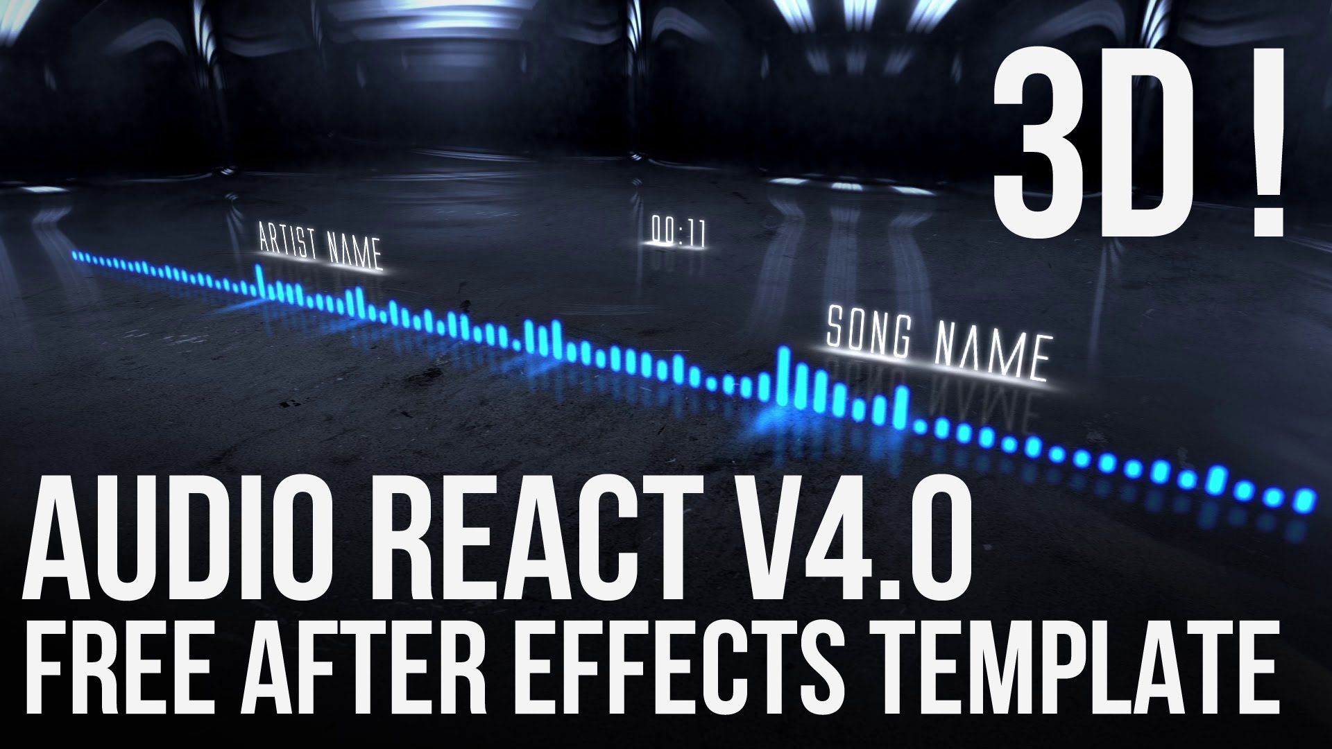 After Effects FREE 3D Template - Audio React v4 0 (Project Files/No